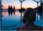 Naantali Spa Outdoor pool evening
